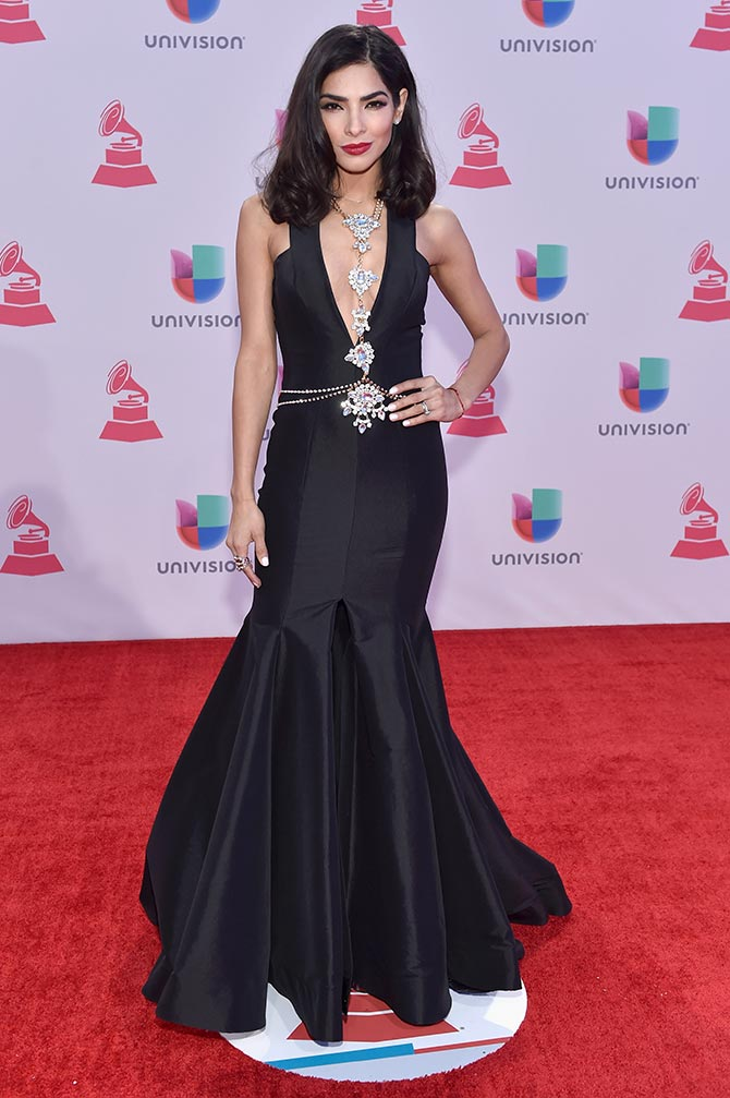 Model Alejandra Espinoza attends the 16th Latin GRAMMY Awards at the MGM Grand Garden Arena on November 19, 2015 in Las Vegas, Nevada.