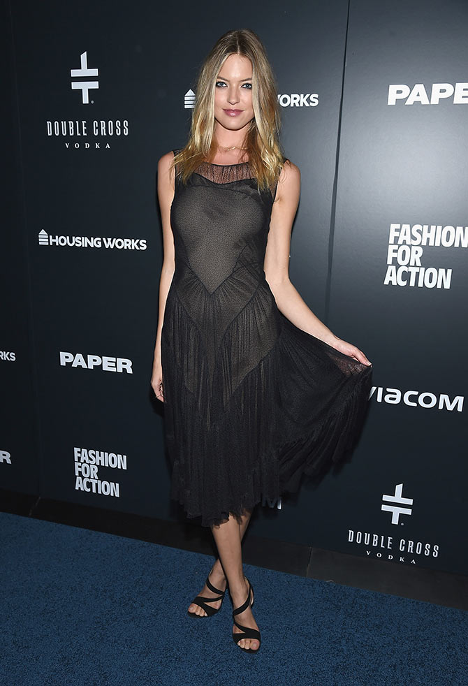 Event co-chair, model Martha Hunt attends the Housing Works' Fashion for Action 2015 at the Rubin Museum on November 19, 2015 in New York City.