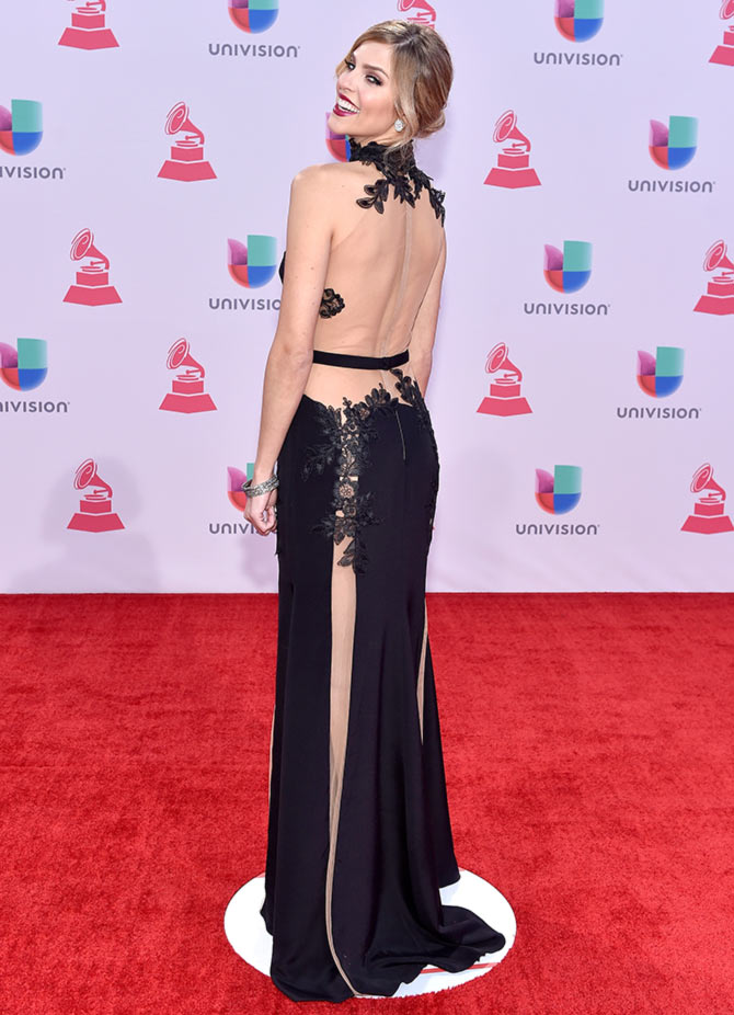 TV host/model Daniela di Giacomo attends the 16th Latin GRAMMY Awards at the MGM Grand Garden Arena on November 19, 2015 in Las Vegas, Nevada.