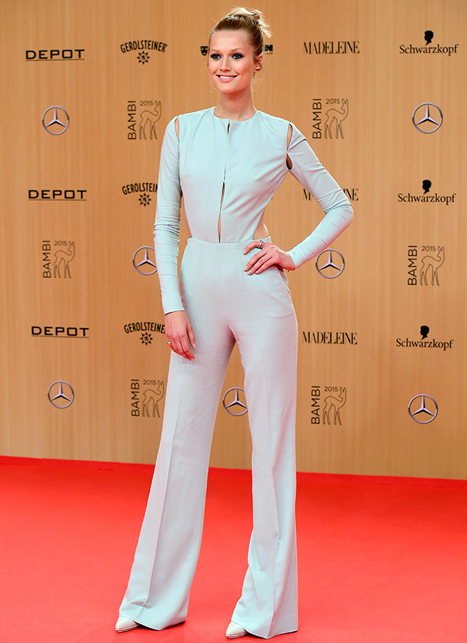 Toni Garrn attends the Bambi Awards 2015 at Stage Theater on November 12, 2015 in Berlin, Germany.