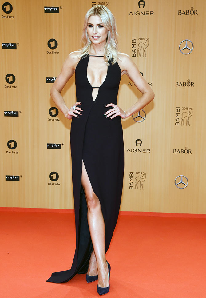 Lena Gercke attends the Bambi Awards 2015 at Stage Theater on November 12, 2015 in Berlin, Germany.