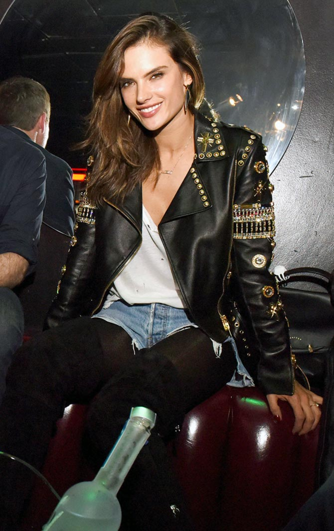 Model Alessandra Ambrosio attends The Official Viper Room Re-Launch Party With Performance By X Ambassadors, Dj Set By Zen Freeman at The Viper Room on November 17, 2015 in West Hollywood, California.