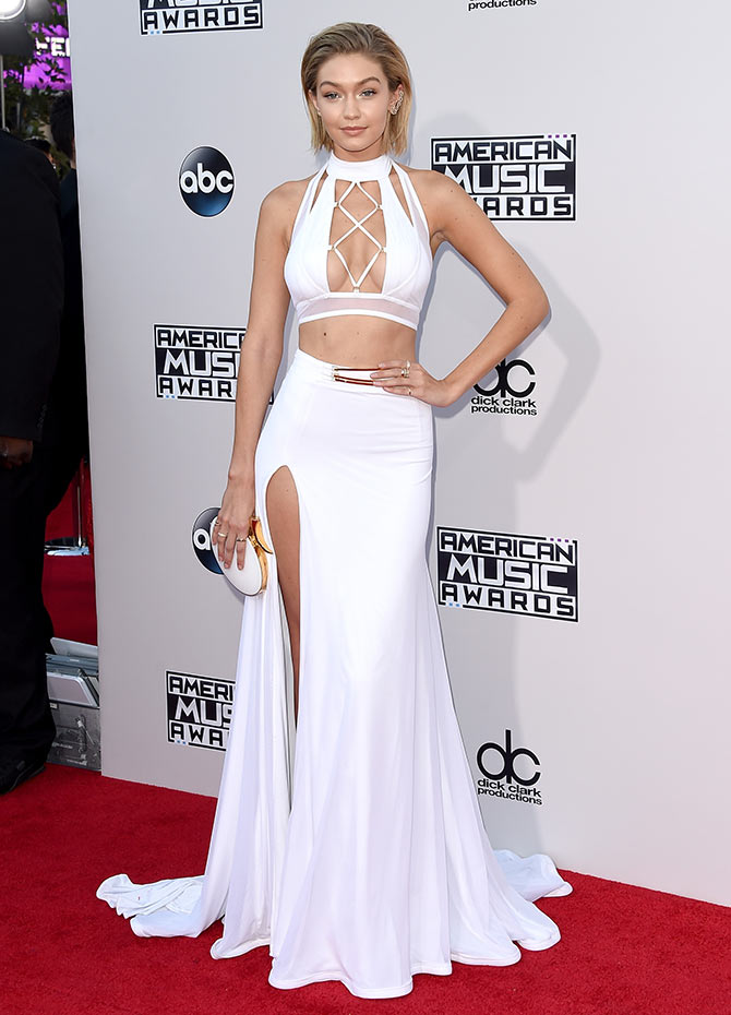 Model Gigi Hadid attends the 2015 American Music Awards at Microsoft Theater on November 22, 2015 in Los Angeles, California.