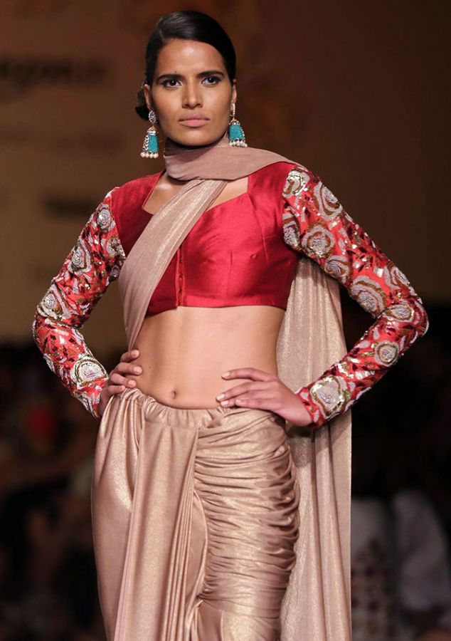 A model in a Siddhartha Tytler creation