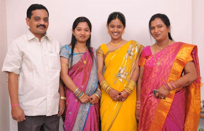 Jyoti Reddy with her family