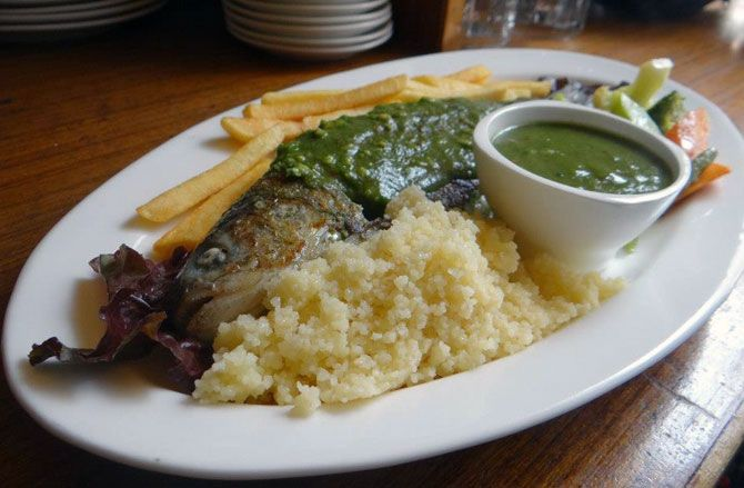 Pan Grilled Trout at Drifter's Cafe, Manali