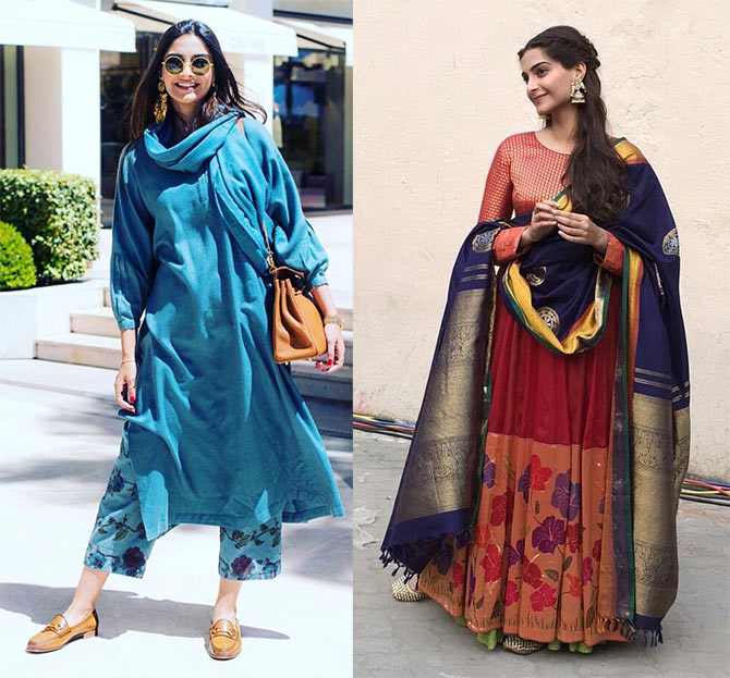 bc8a1755a7232 These celebrities wear handloom. Do you  - Rediff.com Get Ahead