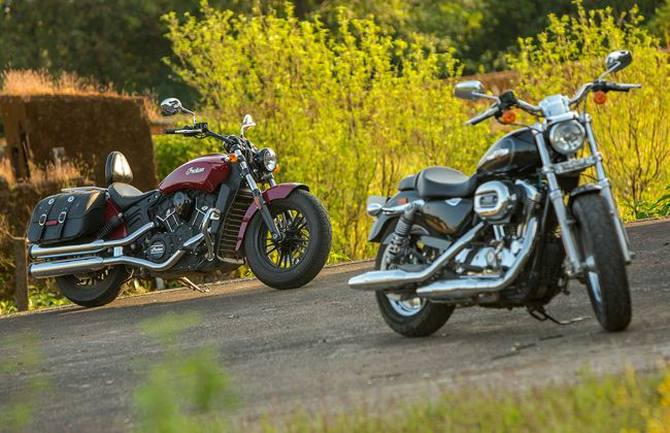 Harley-Davidson 1200 Custom Vs Indian Scout Sixty - Rediff