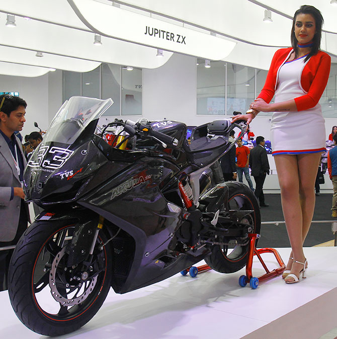Electrifying Bikes And Models At Auto Expo Rediff Com