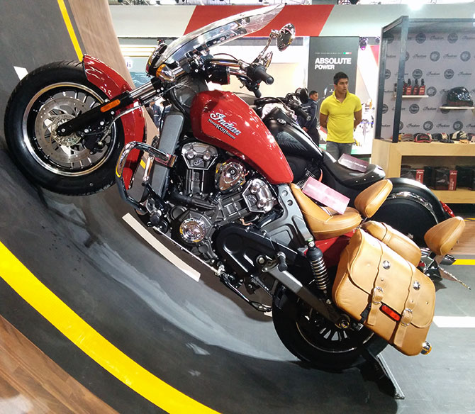 The Indian Scout at the Auto Expo 2016