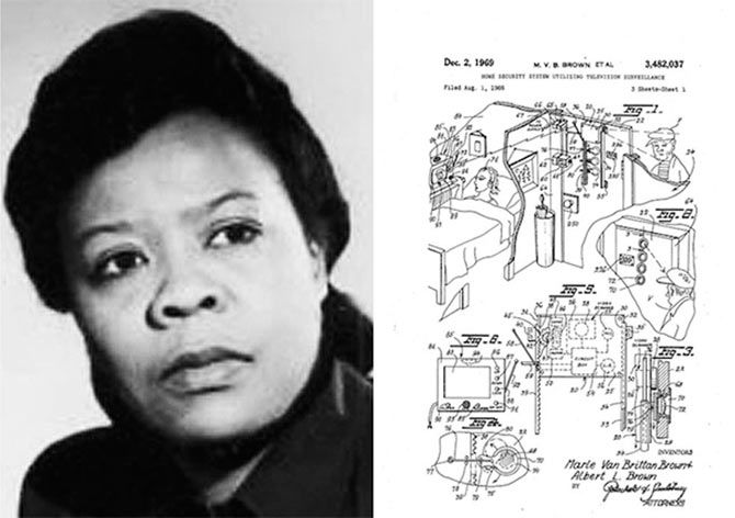 CCTV security system was invented by Marie Van Brown