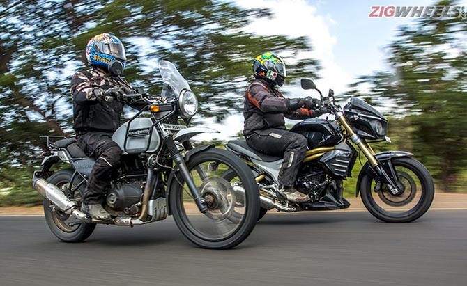 Bike Review Royal Enfield Himalayan Vs Mahindra Mojo Rediffcom