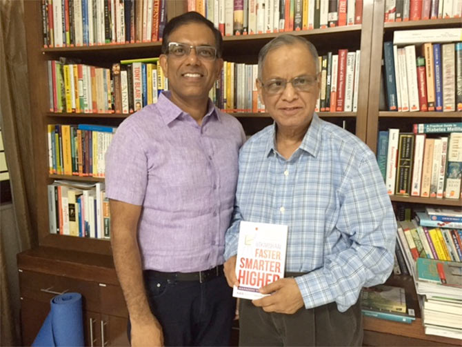 Utkarsh Rai with Narayan Murthy