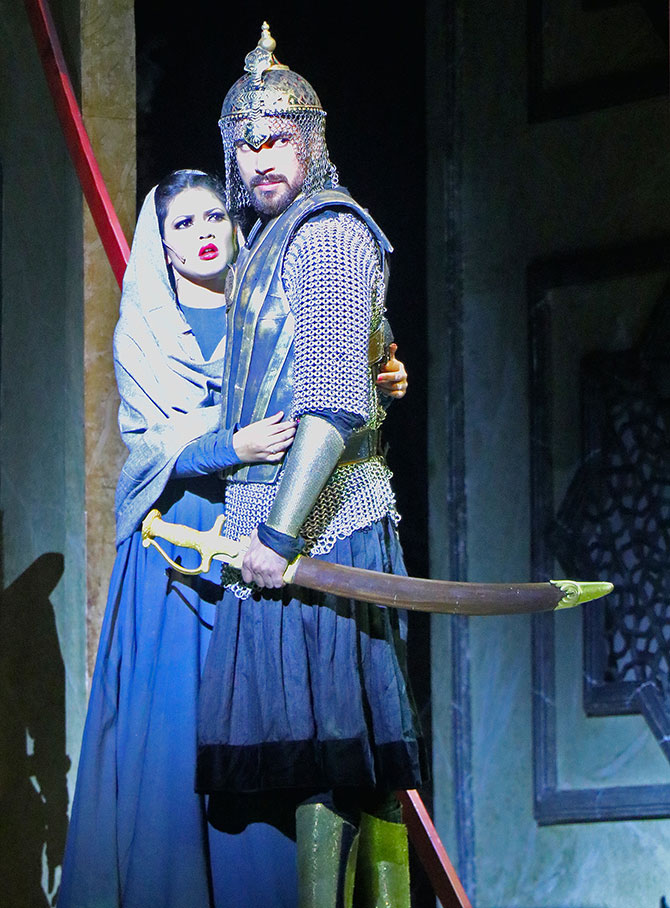 Anarkali and Salim in the Play