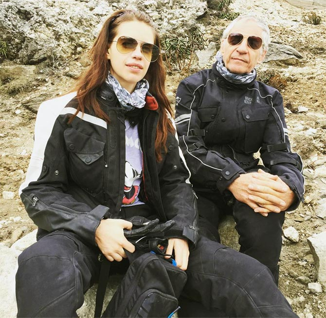 Kalki and her dad