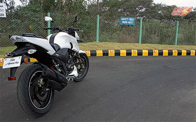 TVS Apache RTR 200 4V: What's hot, what's not! - Rediff com