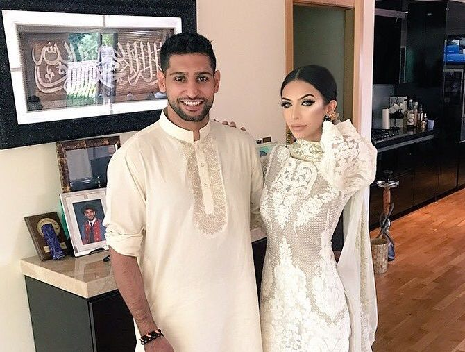Amir Khan and Faryal Makhdoom Khan