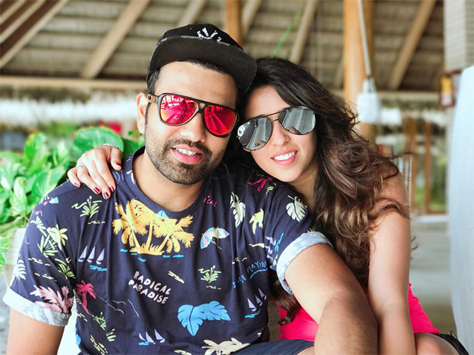 Rohit Sharma and wife