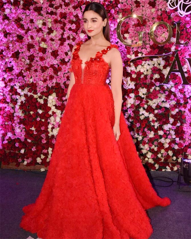 8f589376c77 Ravishing in red! Alia s super-hot look - Rediff.com