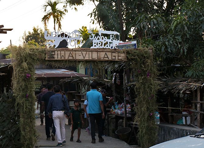 The entrance to Riwai village