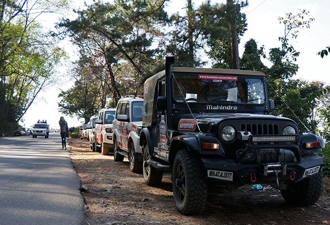 The Mahindra Adventure convoy