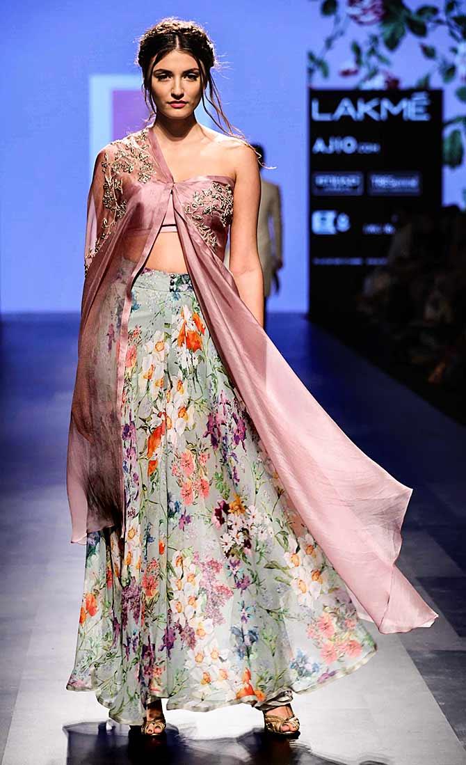 Image result for botanical sari design
