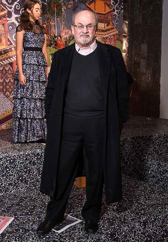 Salman Rushdie at NYFW