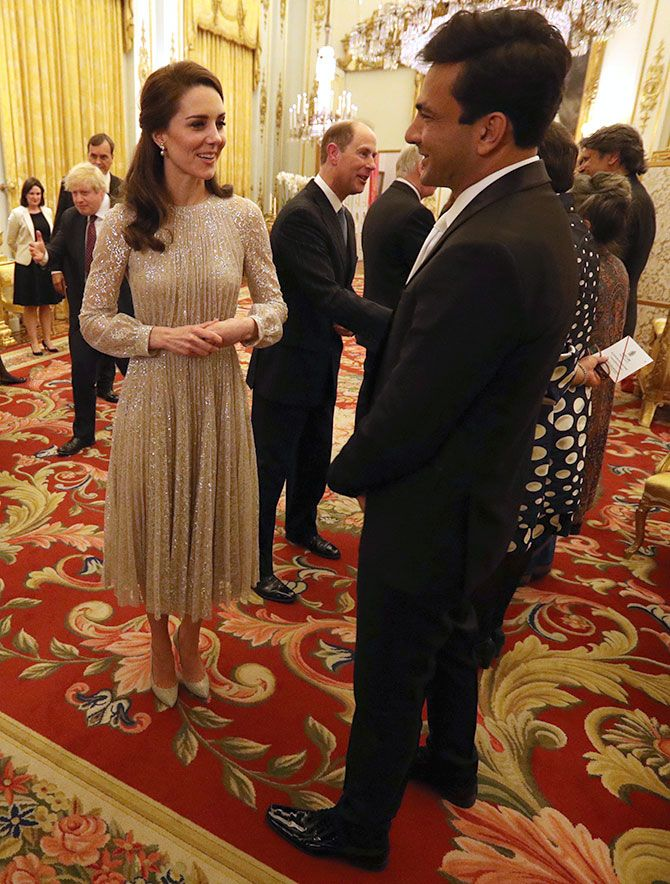 Princess Kate with Chef Vikas Khanna
