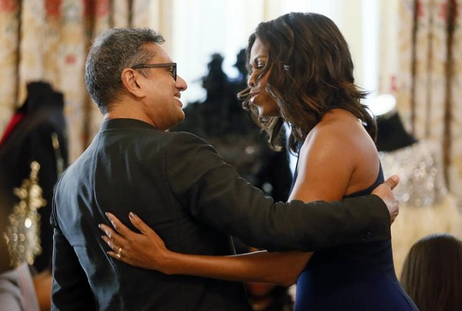 Naeem Khan and Michelle Obama