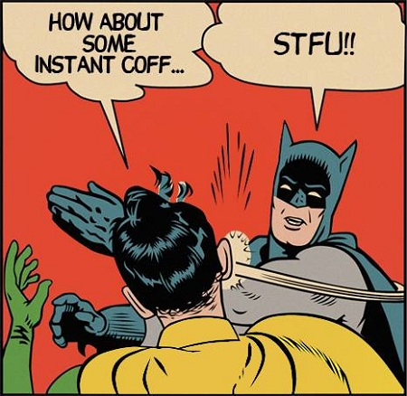 Where instant coffee is a bad word