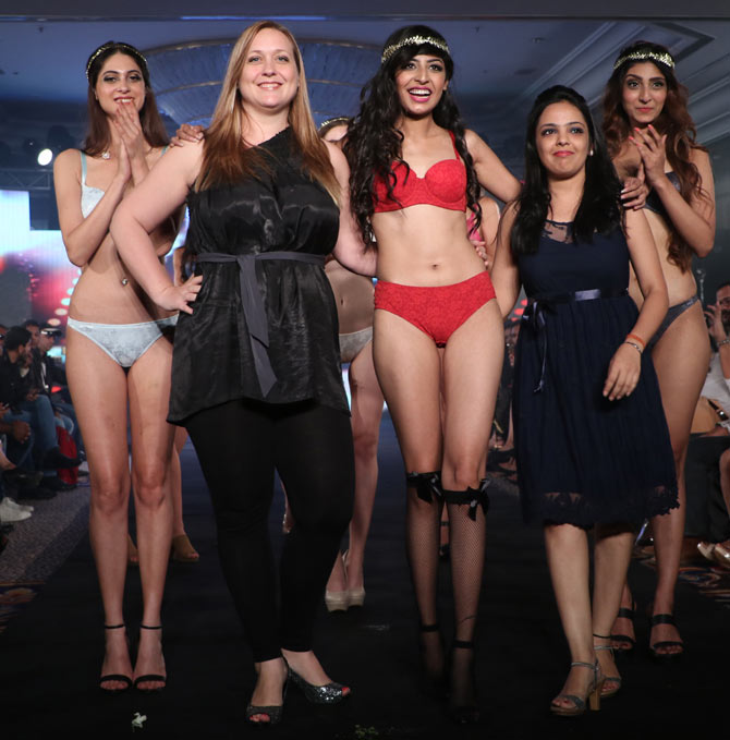 Triumph fashion show at India Intimate Fashion Week