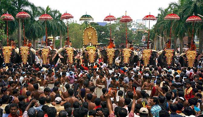 Kerala cancels grand elephant festival Thrissur Pooram