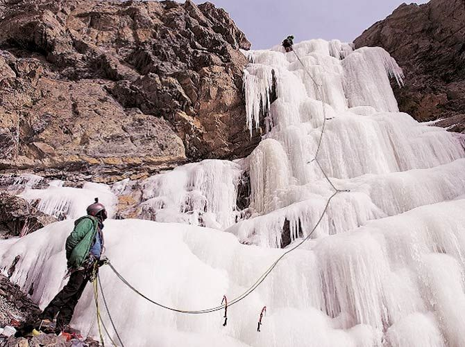 ice climbing in spiti valley, himachal pradesh