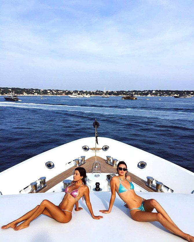 Kendall and Kourtney
