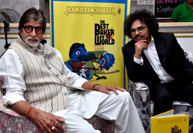 Amitabh Bachchan and Raja Sen
