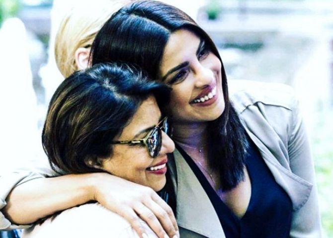 Priyanka Chopra with Madhu Chopra