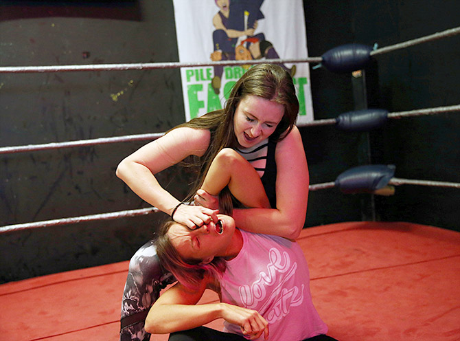 Fight like a girl: Women wrestlers in action - Rediff com Get Ahead