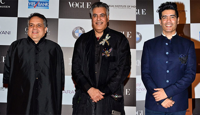 Manish Malhotra, Abu Jani and Sandeep Khosla Vogue women of the Year awards
