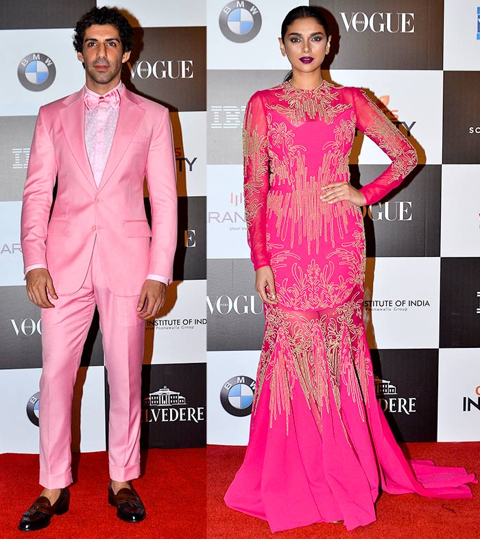 Jim Sarbh and Aditi Rao Hydari Vogue women of the Year awards