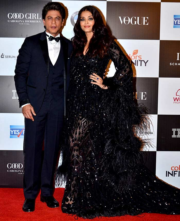 Aishwarya Rai Bachchan and Shah Rukh KhanVogue women of the Year awards