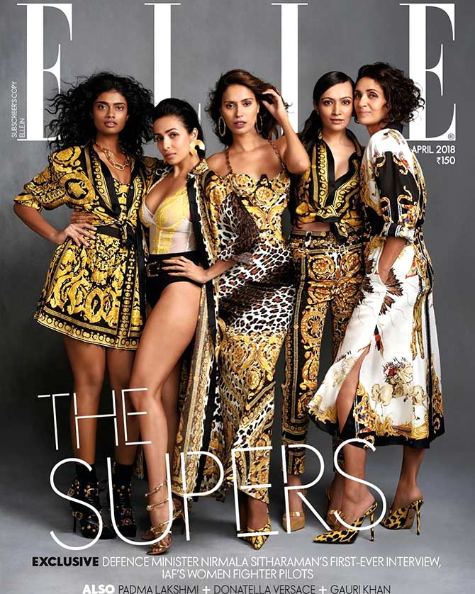 Supermodels on Elle India