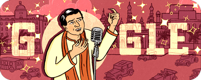 Google doodles KL Saigal