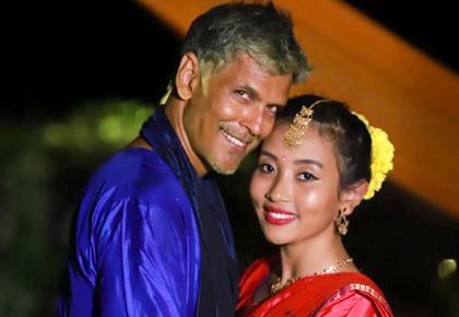 Age no bar! Milind Soman marries Ankita Konwar