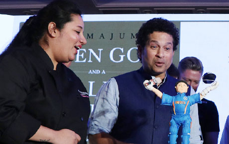 The chef who designed Sachin's 45th birthday cake