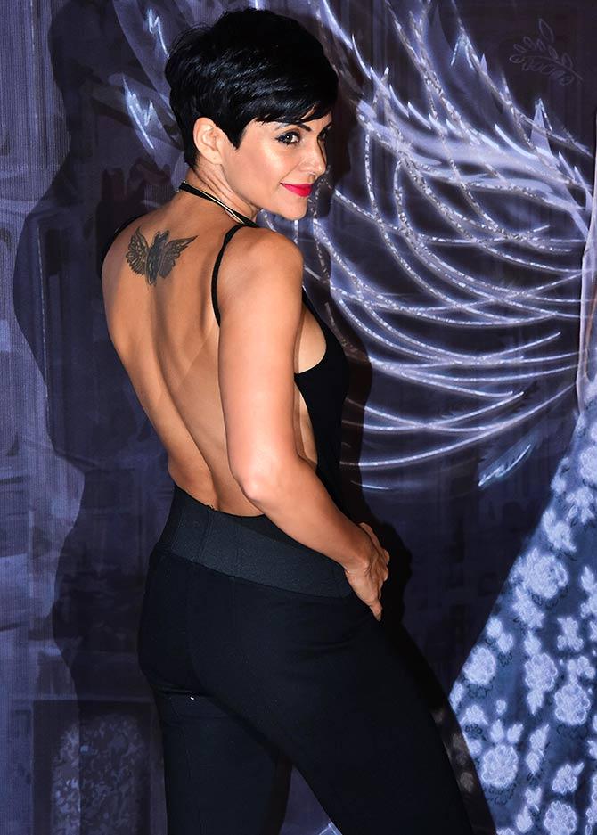 Photos! Did you see Mandira Bedis saucy backless look