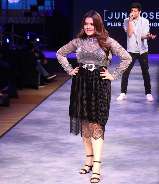 Shikha Talsania walks for Juna Rose in Mumbai