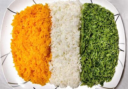 #I-DayEats: How to make tiranga rice