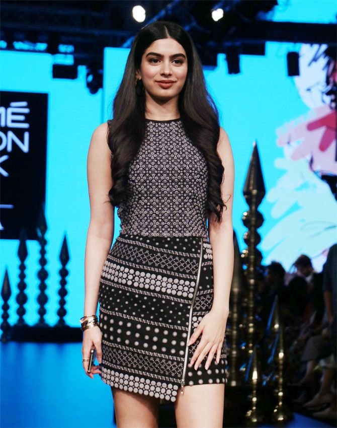Wait! Is that Khushi Kapoor on the ramp? - Rediff.com Get Ahead