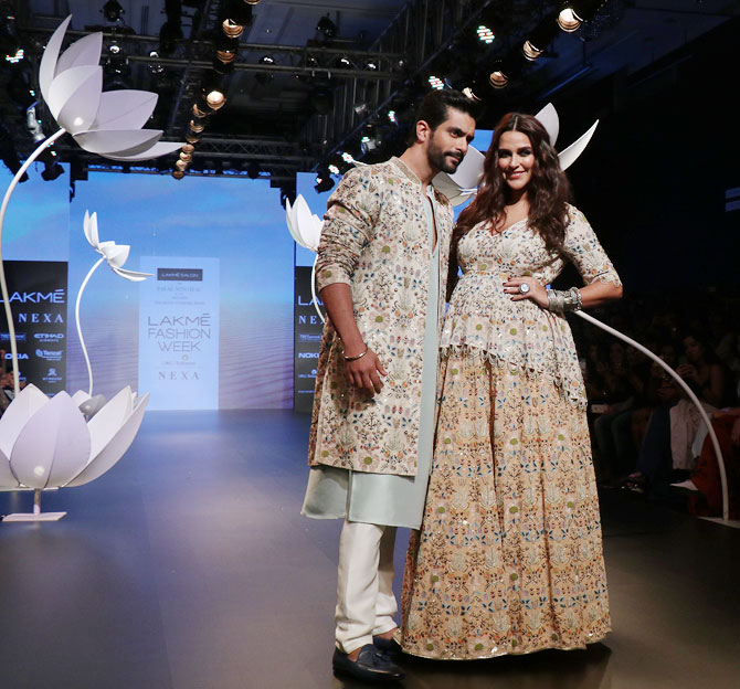 Angad and Neha on the ramp
