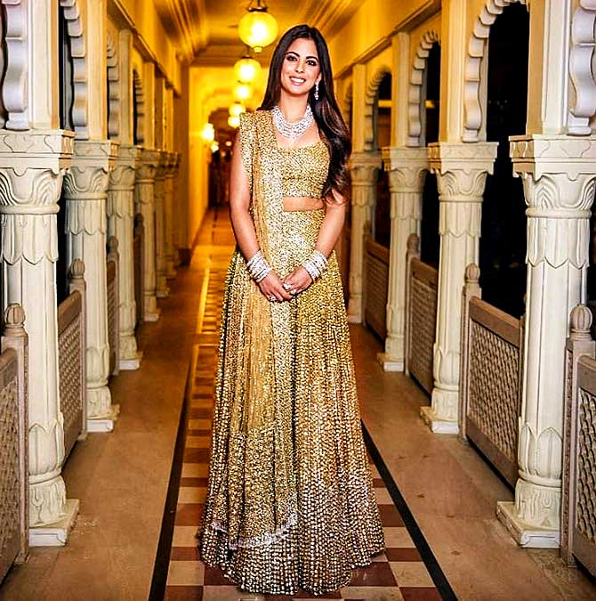 ed44e819e23 Isha Ambani at her sangeet. Photograph  Courtesy Manish Malhotra Instagram